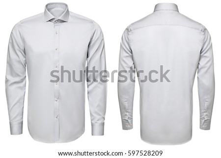 classic and business shirt, isolated white background. #597528209