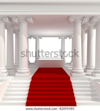 Classic Antique Building 3d background isolated