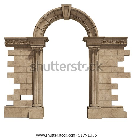 classic arch isolated on white background