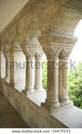 Classic architectural details with columns