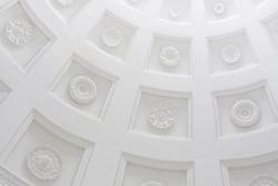 Classic architecture background. White roman ornament light