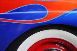 classic auto paint and tire detail