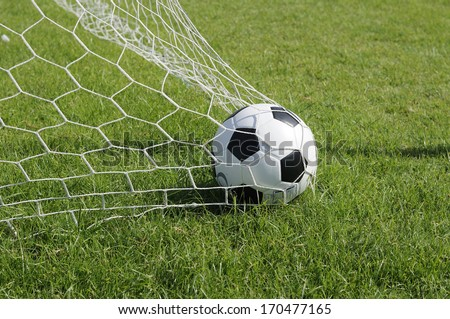 Classic ball pattern with football-net, GOAL