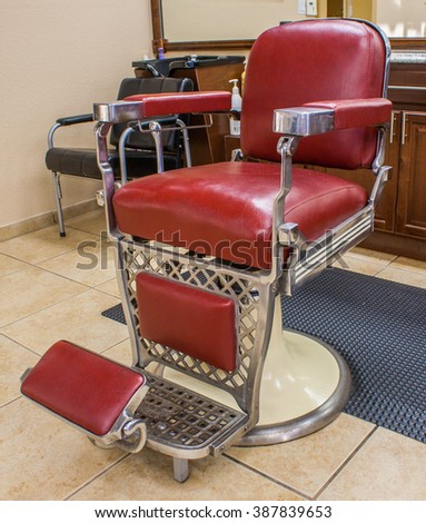 Classic Barber Chair in a barbershop setting