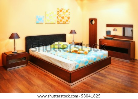 Classic Bedroom Interiors Stock Photo 53041825 : Shutte