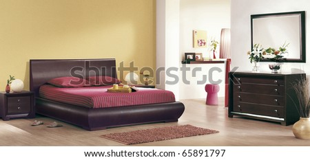 Classic Bedroom Interiors Stock Photo 65891797 : Shutte