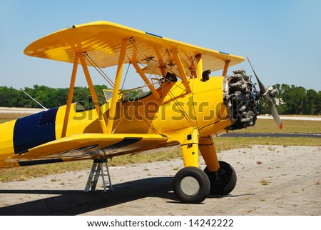 Classic biplane from the golden era of aviation