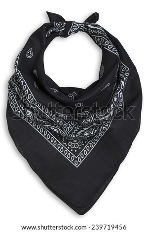 classic black bandana on a white background
