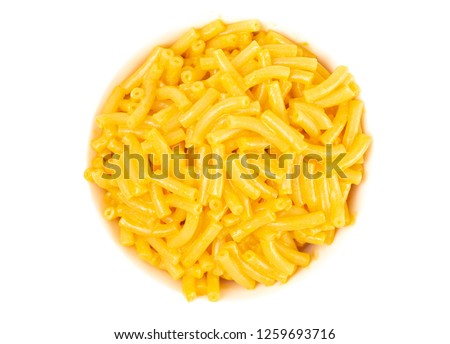 Classic Boxed Mac and Cheese in a White Bowl
