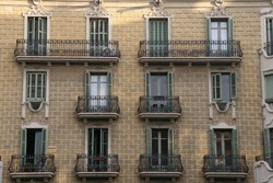 Classic building in the city of Barcelona