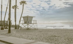 Classic California Vintage Life Guard Station