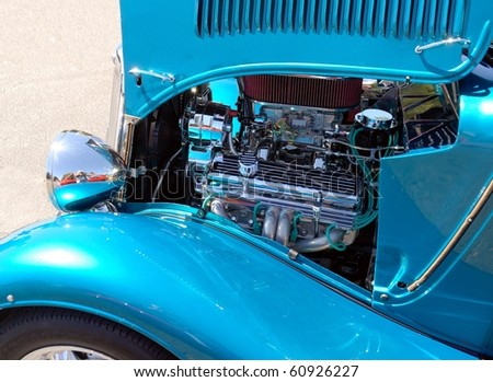 classic car and engine