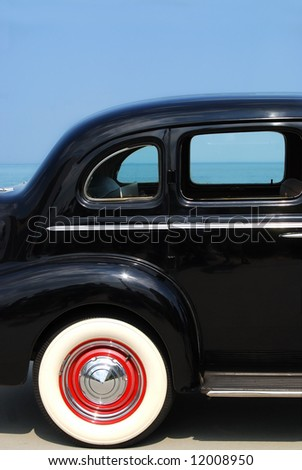 classic car and view