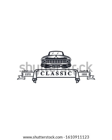 classic car logos for classic car companies or classic car repair shops or classic car lovers