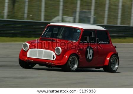 stock photo : Classic car race