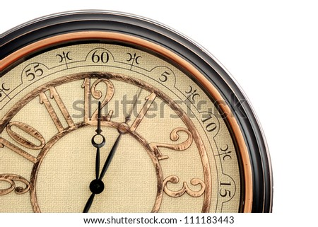 classic clock with moving pointer - stock photo