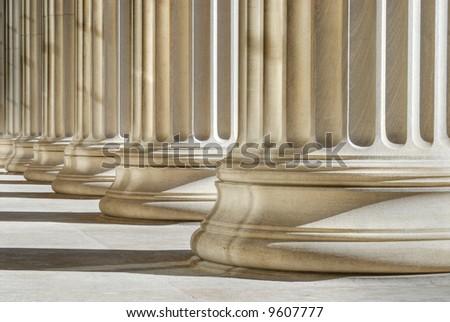 Classic columns background. High dynamic range image