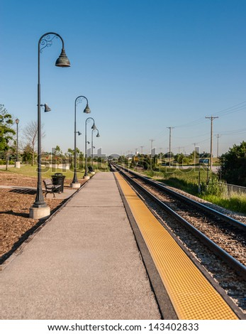 Classic commuter railway station in Chicago suburb