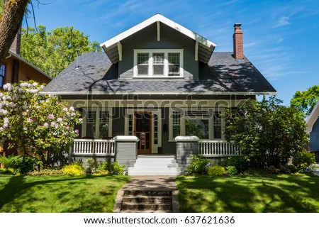 Classic craftsman house in Portland, Oregon