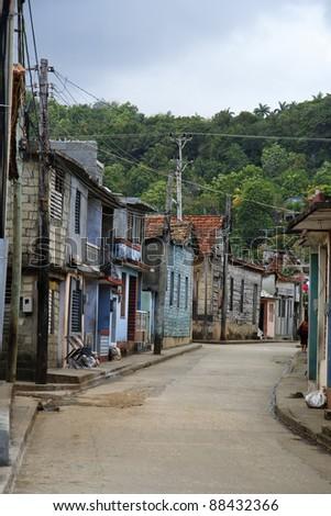 Classic cuban backstreet