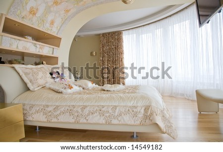 Classic Design Interior Of Bedroom Stock Photo 14549182