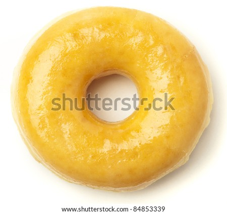 classic donut isolated on a white background