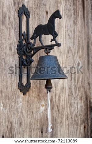 Classic Door Bell with silhouette of horse