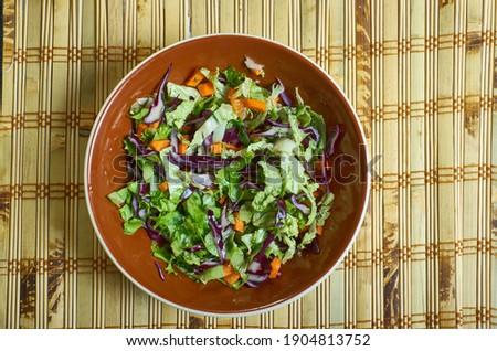 Classic Dutch Koolsla - Two-Cabbage Coleslaw  salad Stockfoto ©