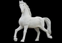 Classic era greek ancient replica statue of a horse