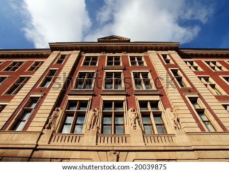 Classic European architecture in The Netherlands (The Ministry of Economic Affairs, The Hague)