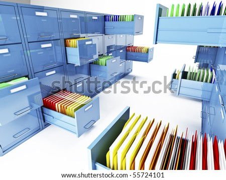 classic file cabinet 3d isolated on white background