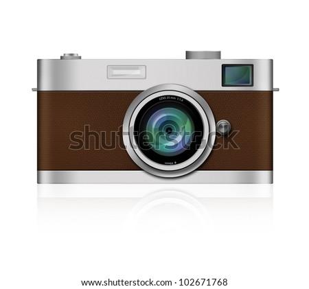 Classic Film Camera on white background