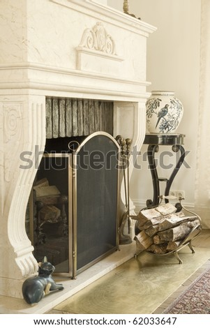 classic fireplace