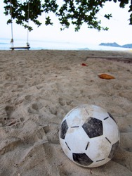 Classic Football on the beach