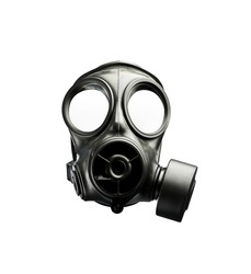 Classic gas mask on white background