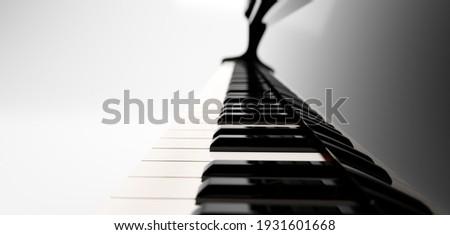 Classic grand piano keyboard close-up Photo stock ©