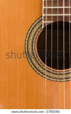 classic guitar closeup  background