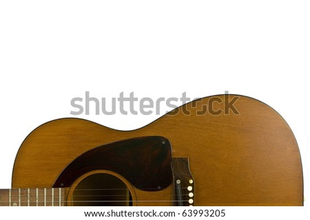 Classic guitar parts isolated on white with copy space