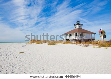 Classic historic lighthouse on Florida's west coast