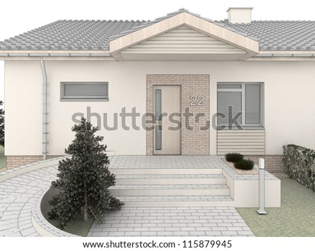 classic house design light rear view lines