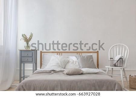 Classic interior of bedroom #663927028
