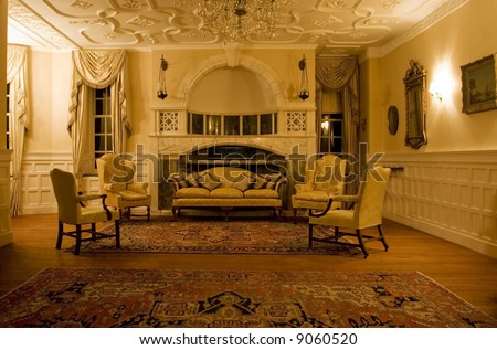 Classic living room in a period mansion