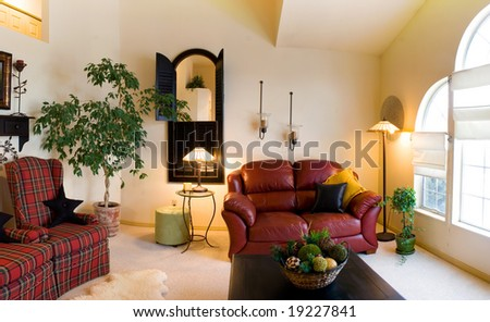 Living Room Lamps on Classic Living Room With Lamps And Couches Stock Photo 19227841