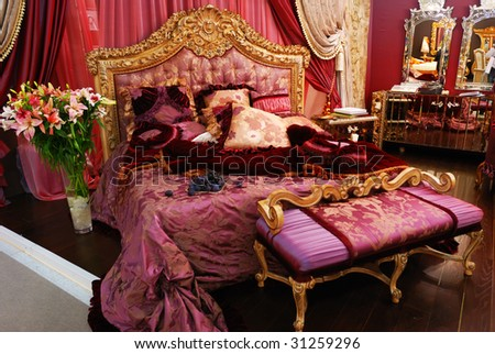 Classic luxury expensive bedroom interior