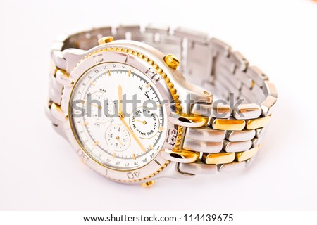 Classic luxury wrist watch with chronograph