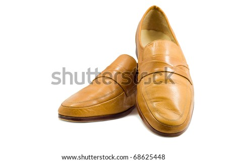 Classic man's shoes. Isolated on white background.