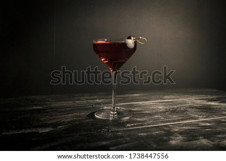 Classic Manhattan served in a coupe Photo stock ©