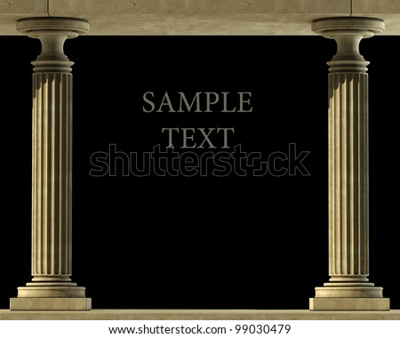 Classic Marble Column High resolution 3D