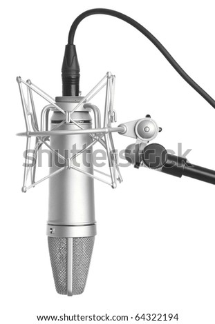 classic microphone isolated on...