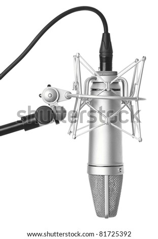 classic microphone isolated on a white background